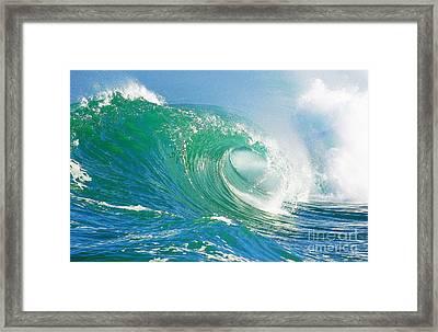 Tubing Wave Framed Print by Paul Topp