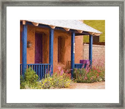 Tucson 821 Barrio Painterly Effect Framed Print by Carol Leigh