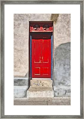 Tucson Arizona Red Door Framed Print by Gregory Dyer