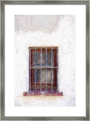 Tucson Barrio Window Painterly Effect Framed Print by Carol Leigh