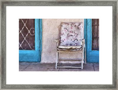 Tucson Front Porch Painterly Effect Framed Print by Carol Leigh