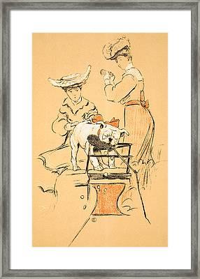 Tug Of War Framed Print by Cecil Charles Windsor Aldin