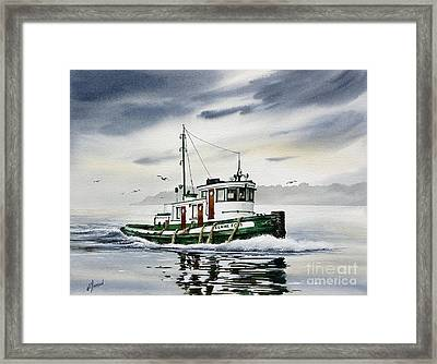 Tugboat Elaine Foss Framed Print by James Williamson