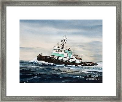 Tugboat Island Champion Framed Print by James Williamson