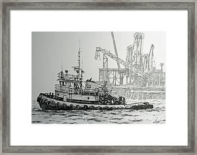 Tugboat Martha Foss Framed Print by James Williamson