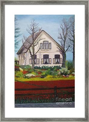 Tulip Cottage Framed Print by Martin Howard