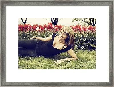 Tulip Park Blondie Framed Print by Nasser Studios