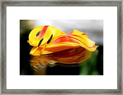 Tulip Reassembled Framed Print by  Andrea Lazar