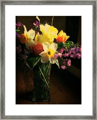 Tulip Time Bouquet Framed Print by Michelle Calkins