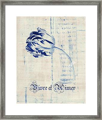 Tulip - Vivre Et Aimer S04bt04t Framed Print by Variance Collections