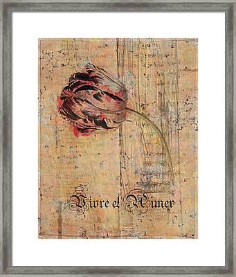 Tulip - Vivre Et Aimer S04t05 Framed Print by Variance Collections
