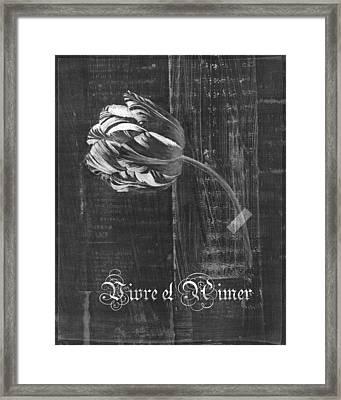 Tulip - Vivre Et Aimer S10t04t Framed Print by Variance Collections