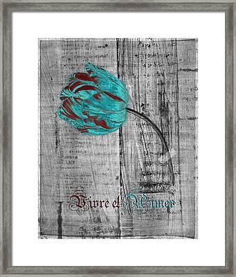 Tulip - Vivre Et Aimer S12ab4t Framed Print by Variance Collections