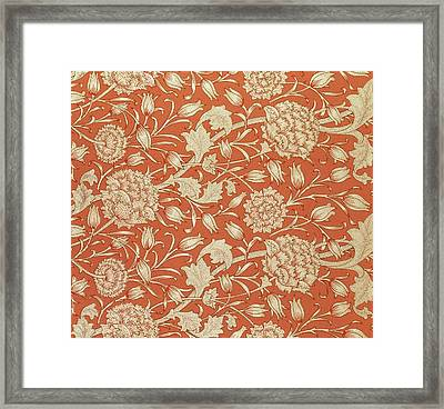 Tulip Wallpaper Design Framed Print by William Morris