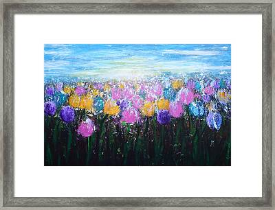 Tulips At Sunrise Framed Print by Kume Bryant