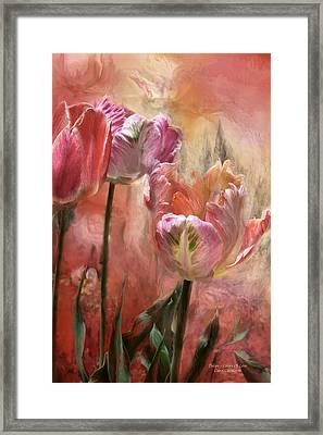 Tulips - Colors Of Love Framed Print by Carol Cavalaris