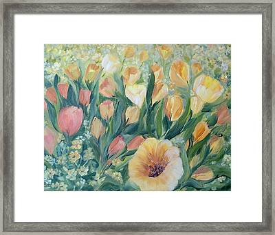 Tulips I Framed Print by Joanne Smoley