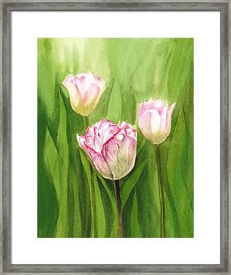 Tulips In The Fog Framed Print by Irina Sztukowski