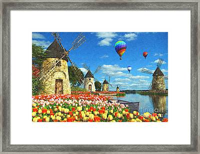 Tulips Of Amsterdam Framed Print by Dominic Davison