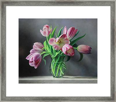 Tullips From Holland Framed Print by Pieter Wagemans