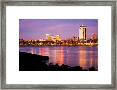 Tulsa Oklahoma - University Tower View Framed Print by Gregory Ballos