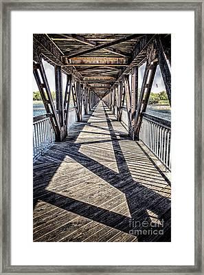 Tulsa Pedestrian Bridge Framed Print by Tamyra Ayles