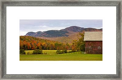 Tumbledown Mountain In The Fall Framed Print by Benjamin Williamson