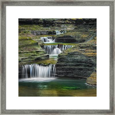 Tumblin Down Square Framed Print by Bill Wakeley