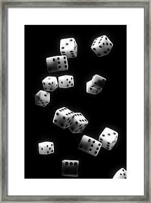 Tumbling Dice Framed Print by Tom Mc Nemar
