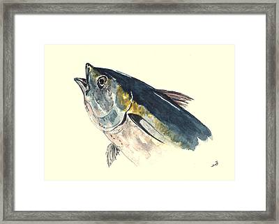 Tuna Fish Framed Print by Juan  Bosco