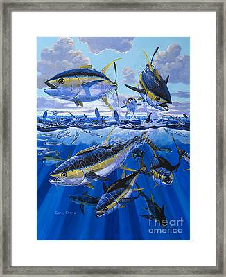 Ocean City Framed Print featuring the painting Tuna Rampage Off0018 by Carey Chen