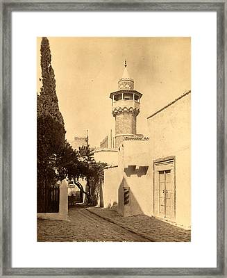 Tunis, A Mosque, Tunisia, Neurdein Brothers 1860 1890 Framed Print by Litz Collection