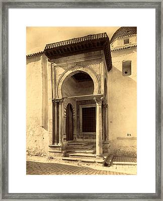 Tunis Gate College, Tunisia, Neurdein Brothers 1860 1890 Framed Print by Litz Collection