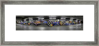 Tunnel Art North Framed Print by Yousif Hadaya