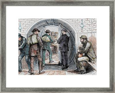 Tunnel In London Framed Print by Prisma Archivo