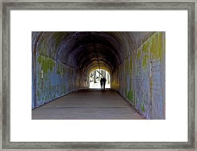 Tunnel Of Love Framed Print by SC Heffner