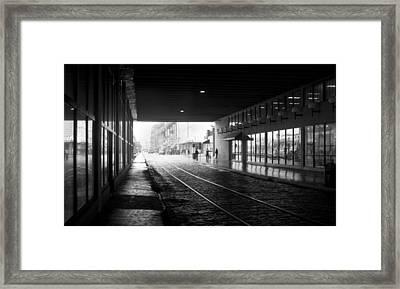 Tunnel Reflections Framed Print by Lynn Palmer