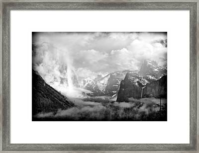 Tunnel View Clearing Storm Framed Print by Tanya Harrison