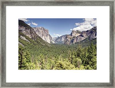 Tunnel View Yosemite Framed Print by Chris Frost