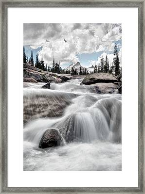Tuolumne River And Unicorn Peak Framed Print by Chris Frost