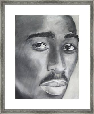 Tupac Framed Print by Aaron Balderas