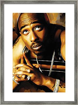 Tupac Shakur Artwork 4 Framed Print by Sheraz A