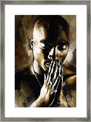 Tupac Shakur Artwork  Framed Print by Sheraz A