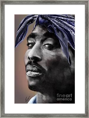 Tupac - The Tip Of The Iceberg  Framed Print by Reggie Duffie