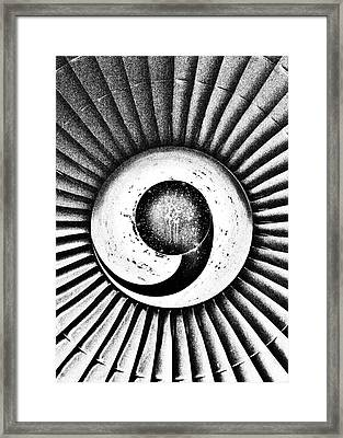 Turbofan Framed Print by Benjamin Yeager