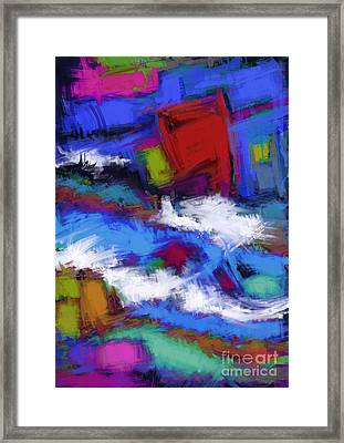 Turbulence Framed Print by Keith Mills