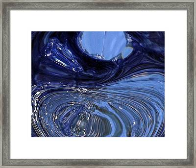 Turbulent Water Framed Print by Michael Sokalski