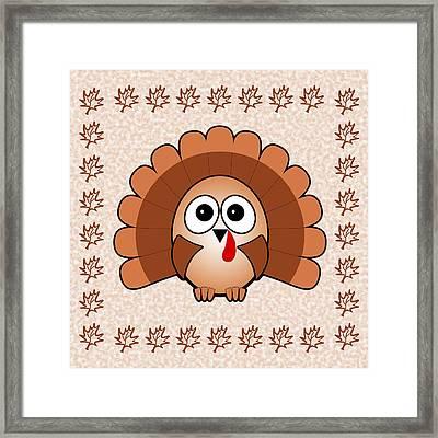 Turkey - Birds - Art For Kids Framed Print by Anastasiya Malakhova