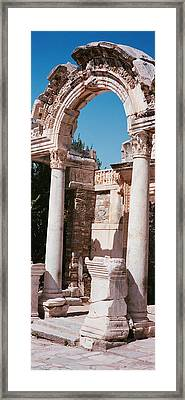 Turkey, Ephesus, Building Facade Framed Print by Panoramic Images