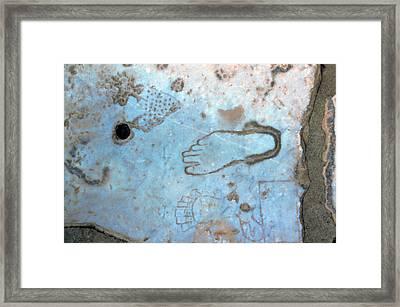 Turkey, Ephesus Pictures Of Feet Carved Framed Print by Jaynes Gallery